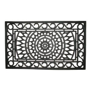 Entryways Sunburst 18 inch x 30 inch Recycled Rubber Door Mat by Entryways