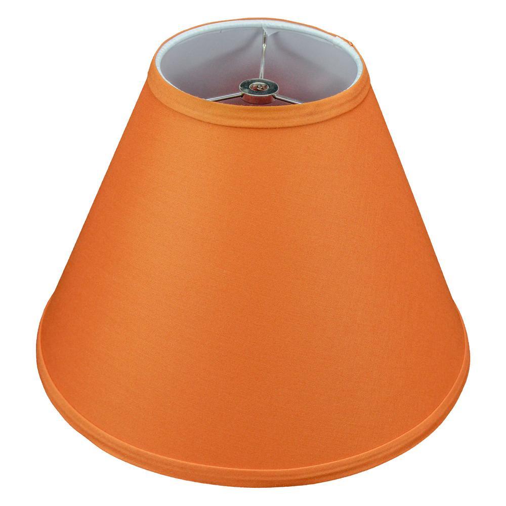 Fenchel Shades 12 in. Width x 8.25 in. Height Cedar/Nickel Finish Empire Lamp Shade