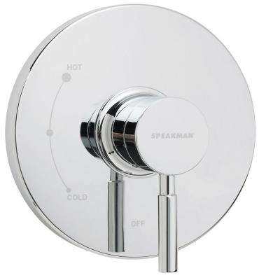 Neo 1-Lever Shower mount Pressure Balance Valve and Trim in Polished Chrome