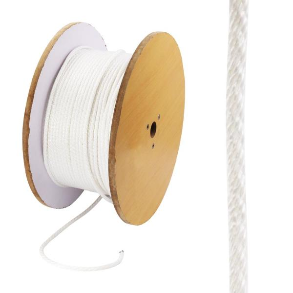 1/4 in. x 800 ft. Nylon Solid Braid Rope, White