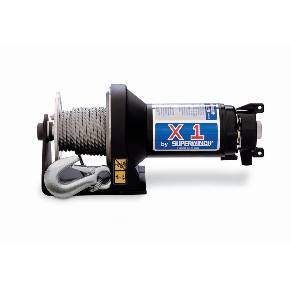 Superwinch X1 Series 2,000 lb. 24-Volt DC Trailer Winch with Hawse Fairlead and Tensioner Clutch