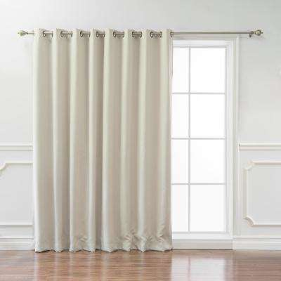 Wide Basic 100 in. W x 84 in. L  Blackout Curtain in Ivory