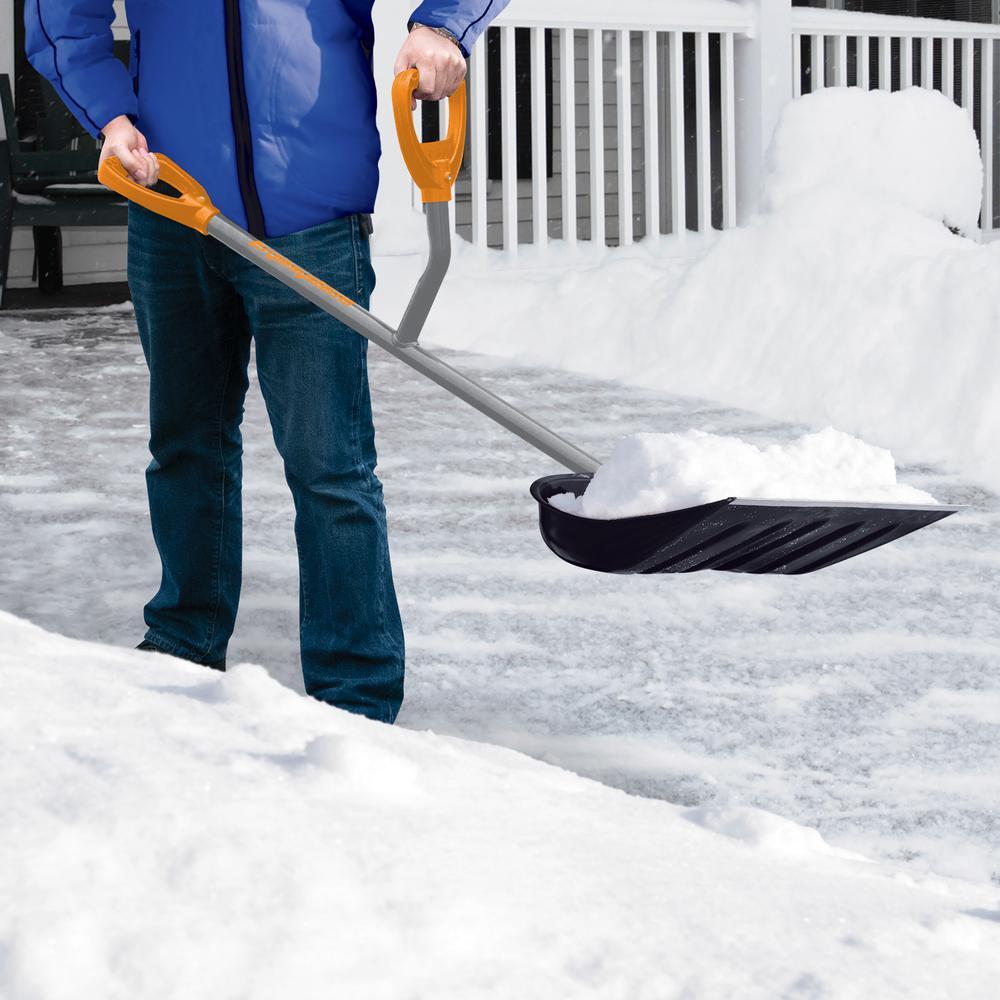 48 in. Steel Shaft Impact Resistant Snow Shovel