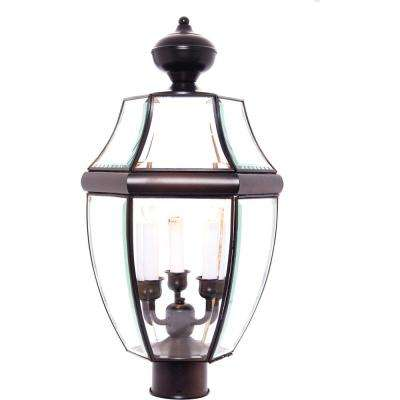 South Park 3-Light Burnished Outdoor Pole/Post Mount