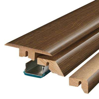 Sable Oak 3/4 in. Thick x 2-1/8 in. Wide x 78-3/4 in. Length Laminate 4-in-1 Molding