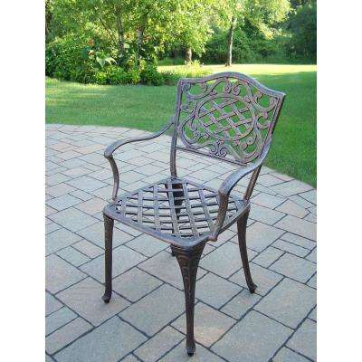 Mississippi Antique Bronze Aluminum Outdoor Dining Chair (4-Pack) - Standard Dining Height - Antique Bronze - Rust Resistant - Outdoor