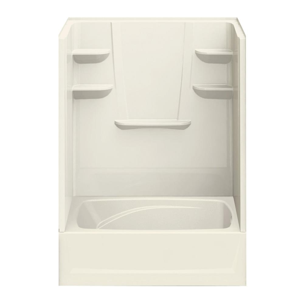 A2 43 in. x 60 in. x 80 in. Bath and Shower Kit Right-Hand Drain in Biscuit