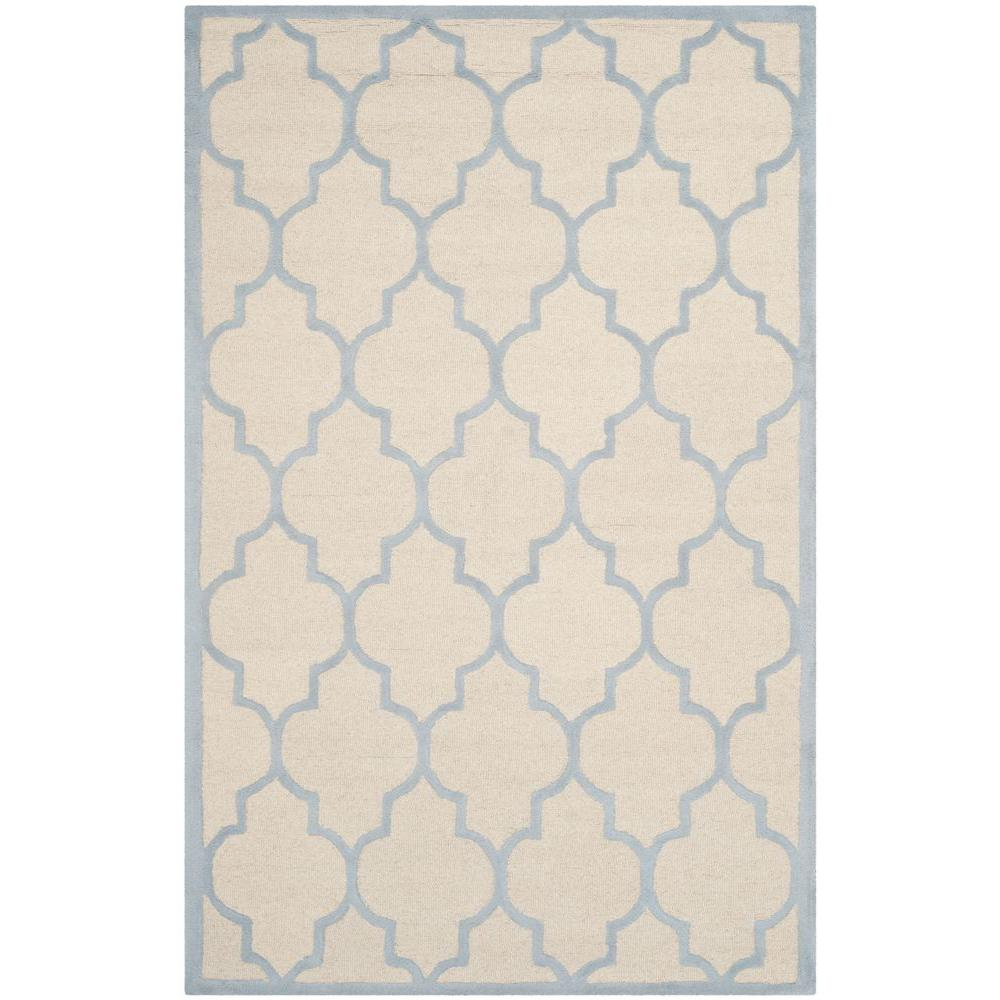 cambridge ivorylight blue 5 ft x 8 ft area rug