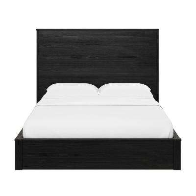 Crescent Point Black Oak Full Sized Bed and Headboard