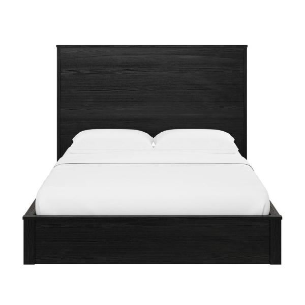 Ameriwood Crescent Point Black Oak Full Sized Bed and Headboard 5768325COM