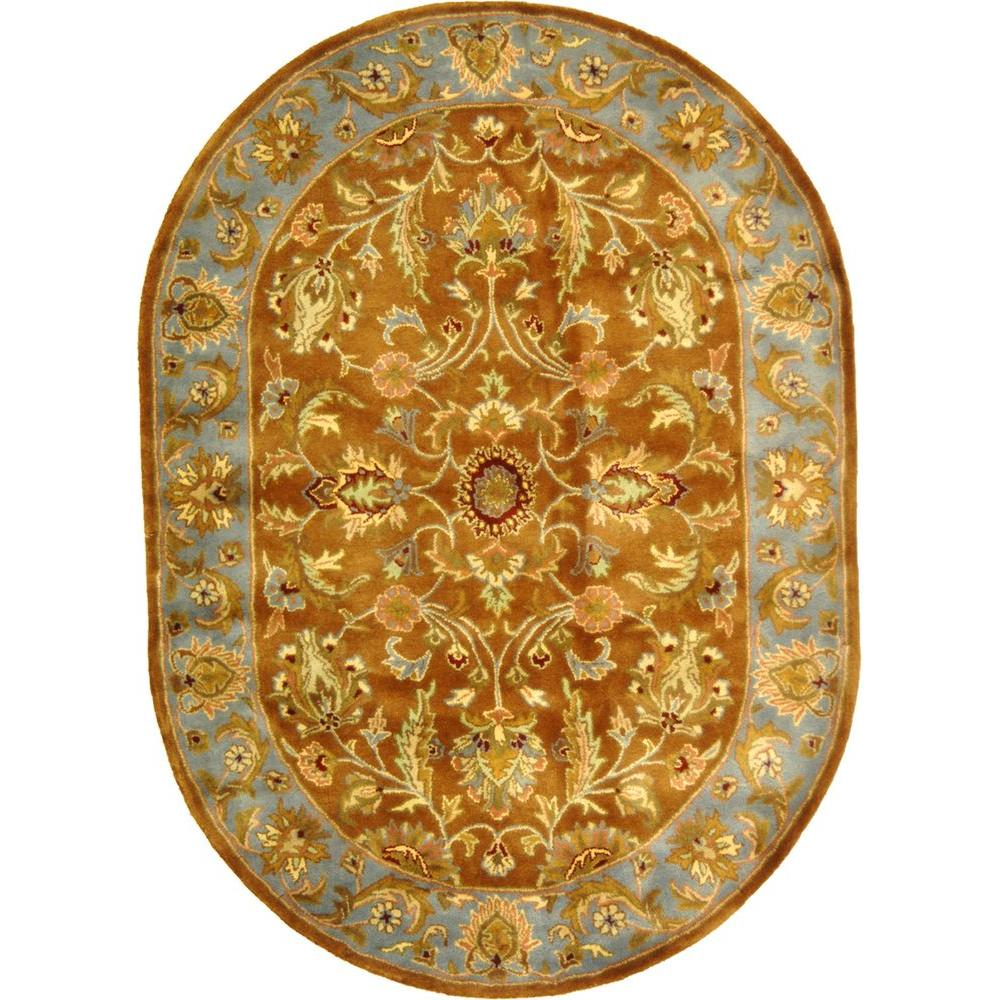 Safavieh Heritage Brown/Blue 7 ft. 6 in. x 9 ft. 6 in. Oval Area Rug