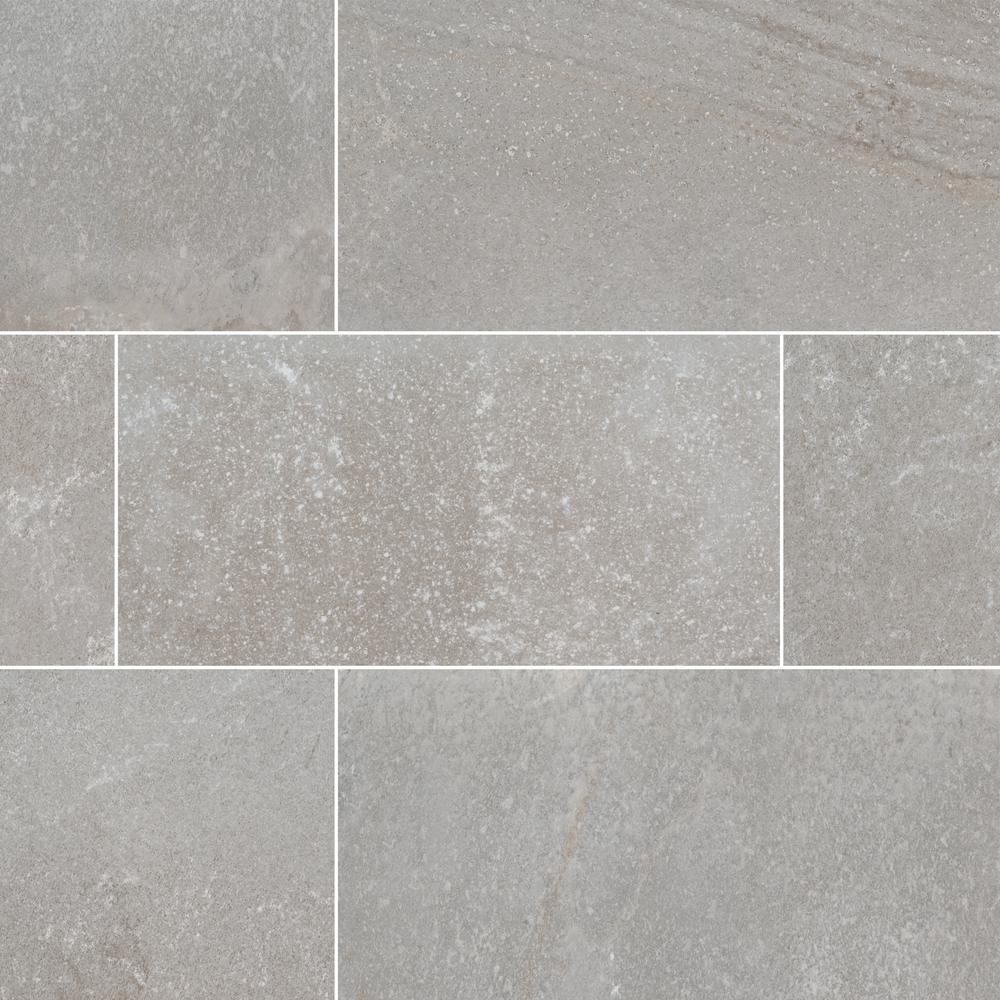 Brixstyle Glacier 12 in. x 24 in. Glazed Porcelain Floor and