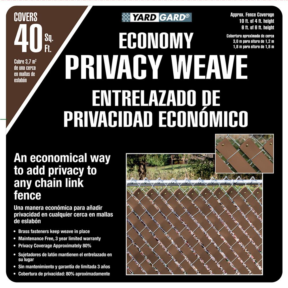 chain link fence slats brown. W Brown Economy Vinyl Fence Panel Weave Chain Link Slats