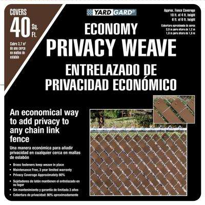 4 ft. H x 250 ft. W Brown Economy Vinyl Fence Panel Weave