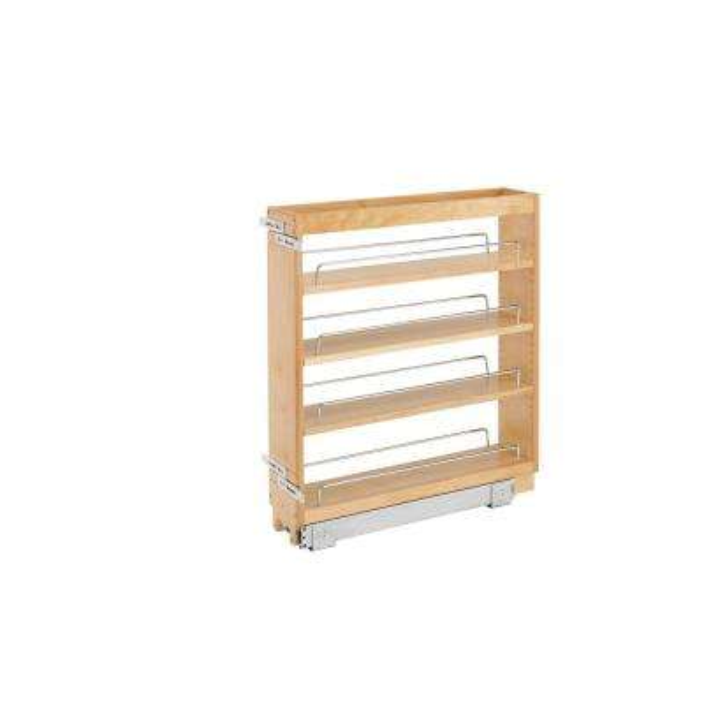 25.48 in. H x 5 in. W x 22.47 in. D Pull-Out Wood Base Cabinet Organizer