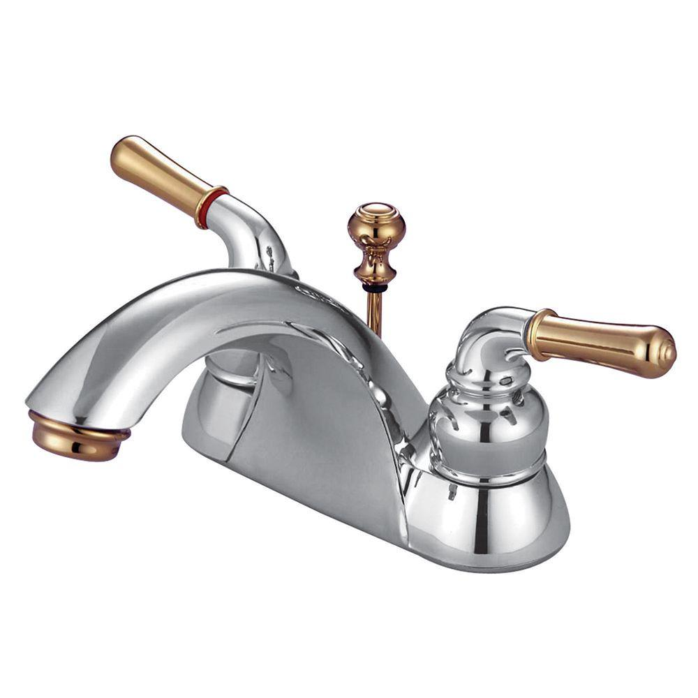 Kingston Brass 4 in. Centerset 2-Handle Bathroom Faucet in Chrome ...