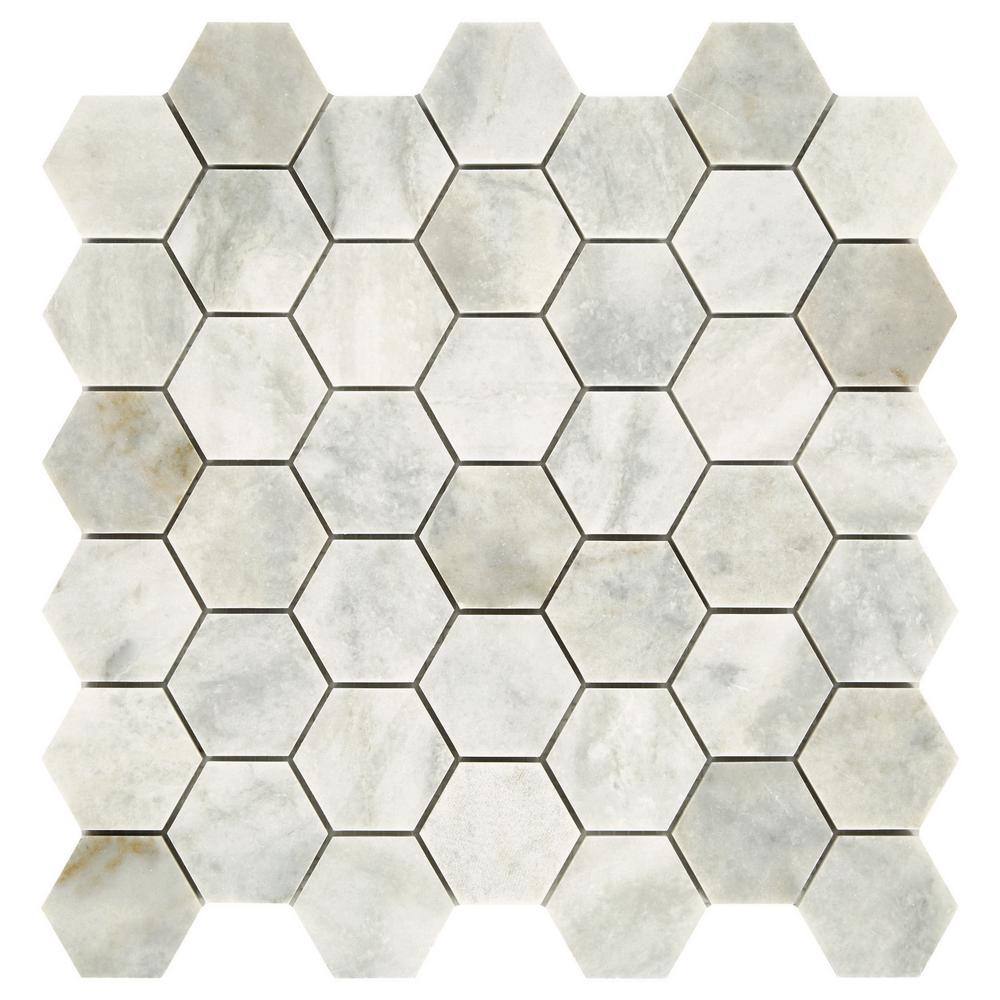 Daltile Restore Coastal Honed 12 in. x 12 in. x 8mm Marble Mosaic Floor and Wall Tile (0.97 sq. ft./ piece)