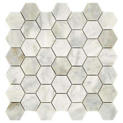 Restore Coastal Honed 12 in. x 12 in. x 8mm Marble Mosaic Floor and Wall Tile (0.97 sq. ft./ piece)