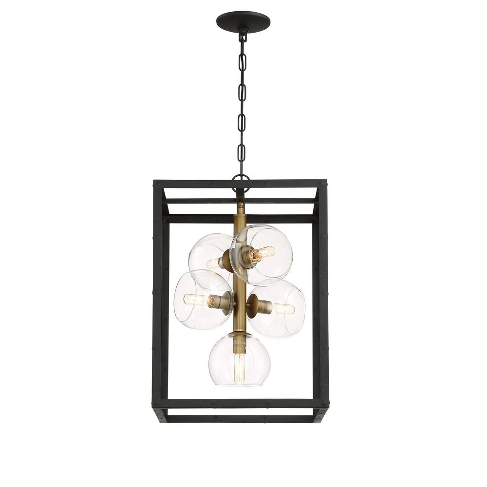 Eurofase bentley collection 5 light black and gold chandelier with eurofase bentley collection 5 light black and gold chandelier with glass shade mozeypictures Image collections