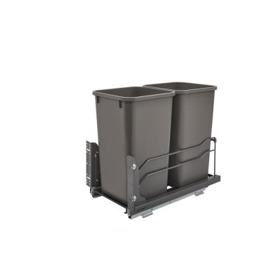 Double 27 Qt. Pull-Out Waste Container Soft-Close