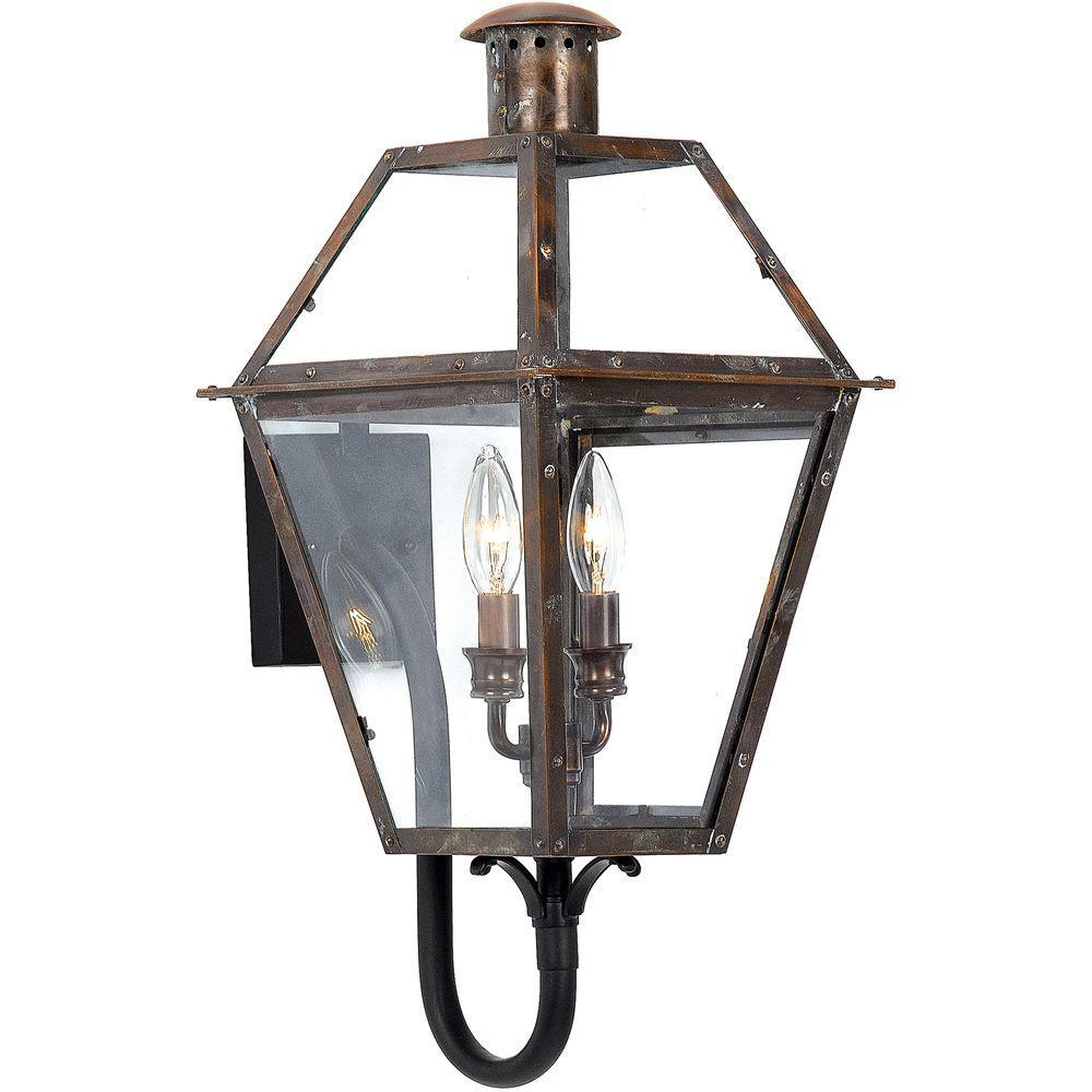 Filament Design Monroe 2-Light Aged Copper Outdoor Incandescent Wall Lantern