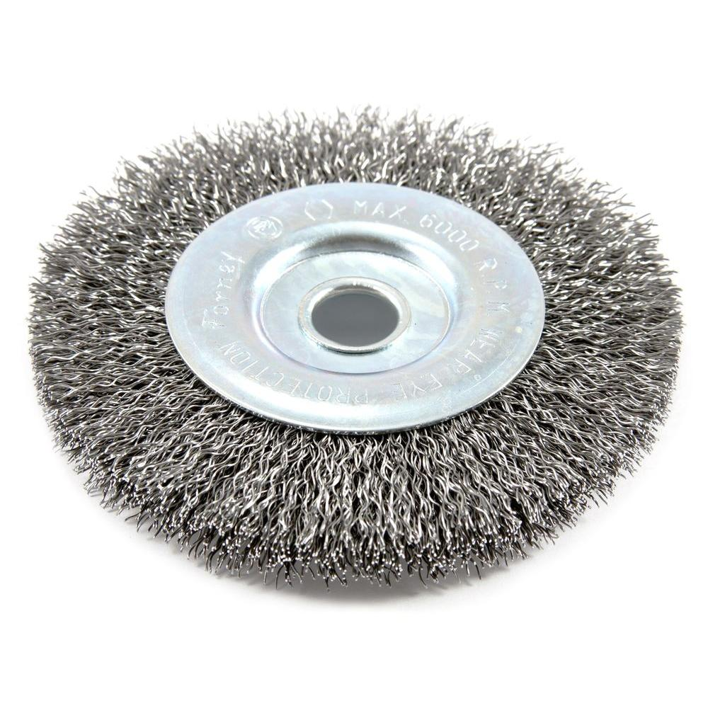 Milwaukee 4 in. Crimped Wire Wheel Brush-48-52-5070 - The Home Depot