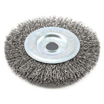 4 in. x .012  1/2 in. Arbor Coarse Crimped Wire Wheel Brush