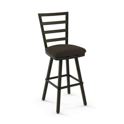Century 30 in. Semi-Transparent Gun Metal Dark Brown Grey Polyester Barstool