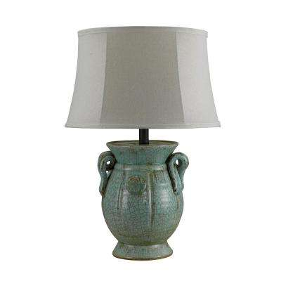 25 in. Blue Table Lamp