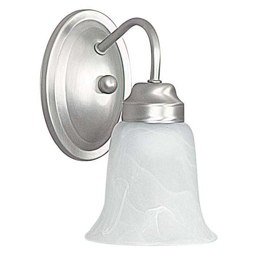 Everest 1 Light Satin Nickel Sconce