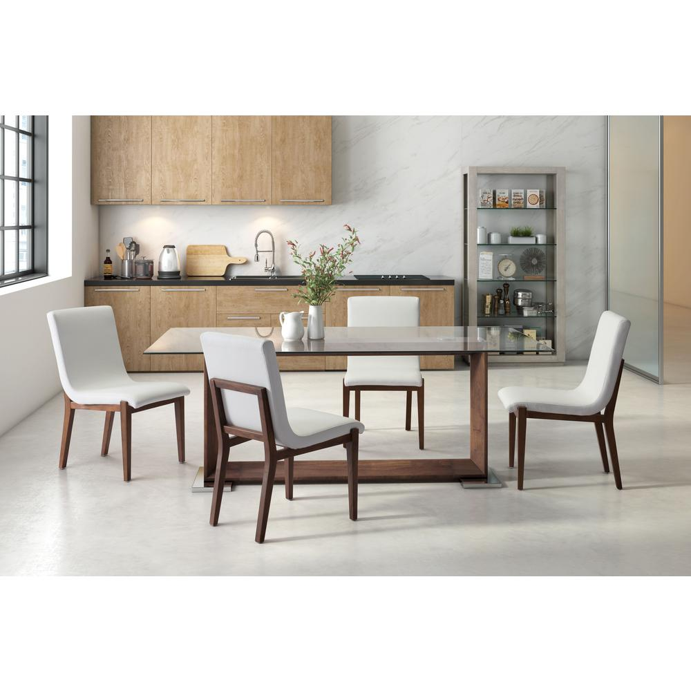 ZUO Hamilton White Dining Chair Set Of 2