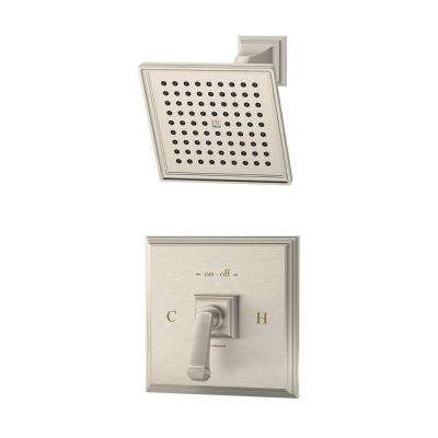 Oxford Single-Handle Shower System in Satin Nickel (Valve Included)