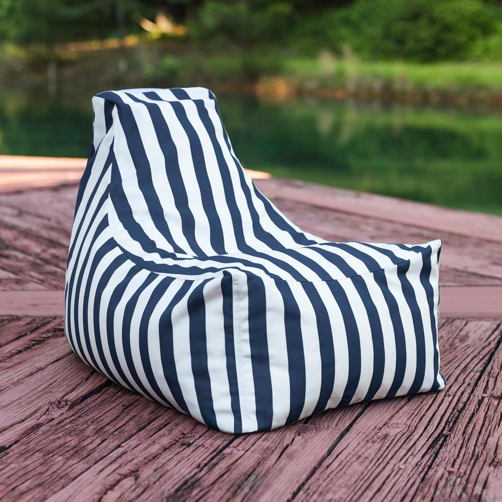 Awe Inspiring Jaxx Juniper Jr Navy Striped Outdoor Kids Bean Bag Lawn Chair Alphanode Cool Chair Designs And Ideas Alphanodeonline