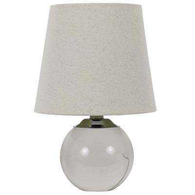 Cassidy 12.5 in. Chrome and Crystal Accent Lamp with Shade