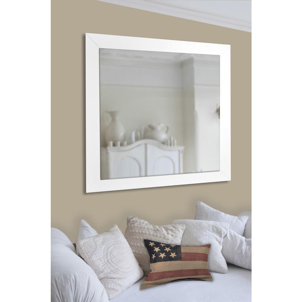 48 In X 36 White Satin Wide Non, Wall Mirror 40 X 60