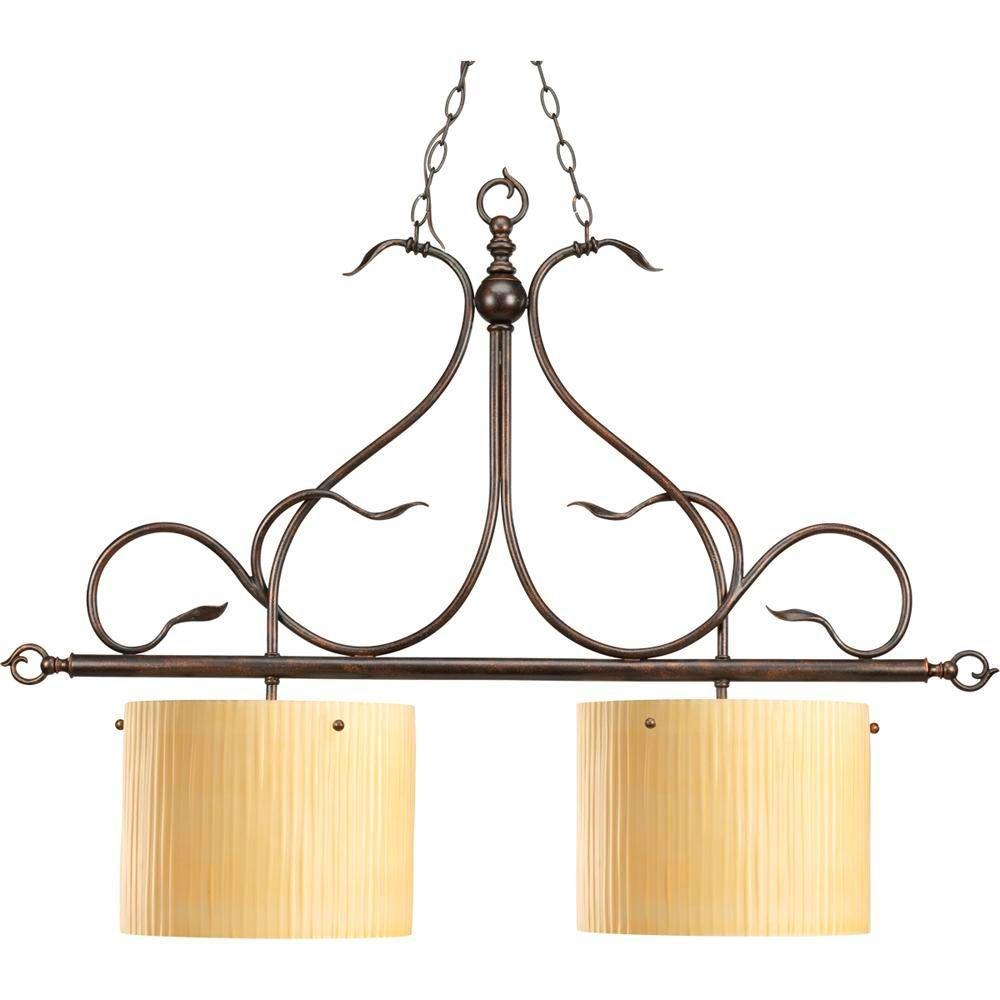 Thomasville Lighting Willow Creek Collection 2-Light Weathered Auburn Chandelier-DISCONTINUED