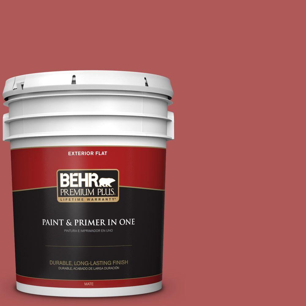 5-gal. #160D-6 Pottery Red Flat Exterior Paint