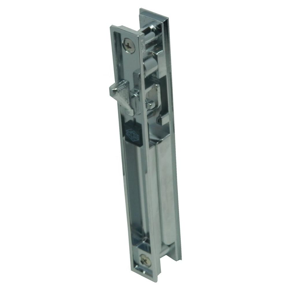 Slide Lock For Glass Door: Barton Kramer Chrome-Plated Patio Door Lock With Key-445
