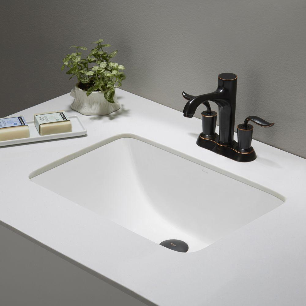 Ceramic Undermount Bathroom Sink