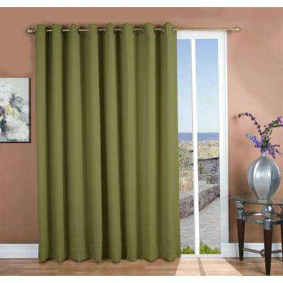 Ultimate Blackout 112 in. W x 84 in. L Polyester Blackout Patio Panel in Sage