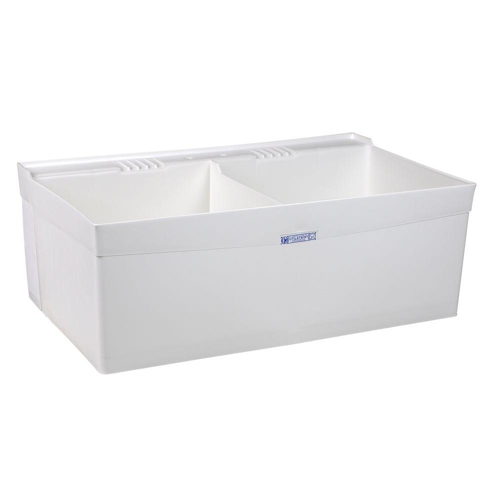 Upc 671031000583 Mustee 40 In X 24 In 2 Basin White Wall