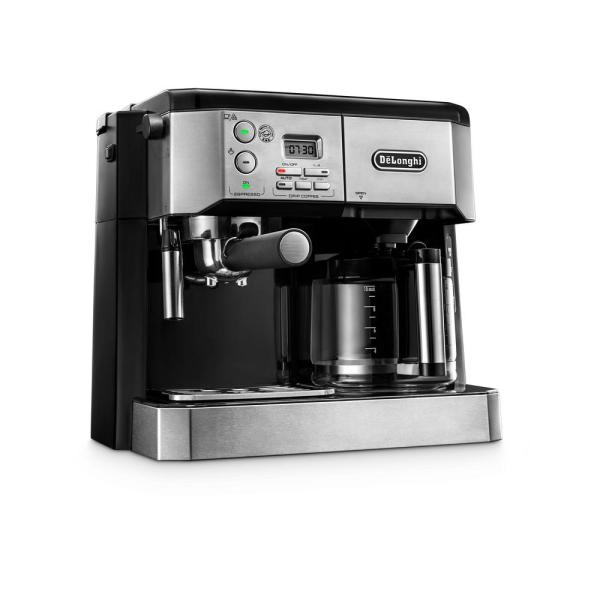 DeLonghi All-In-One 10-Cup Stainless Steel Espresso Machine and Drip Coffee