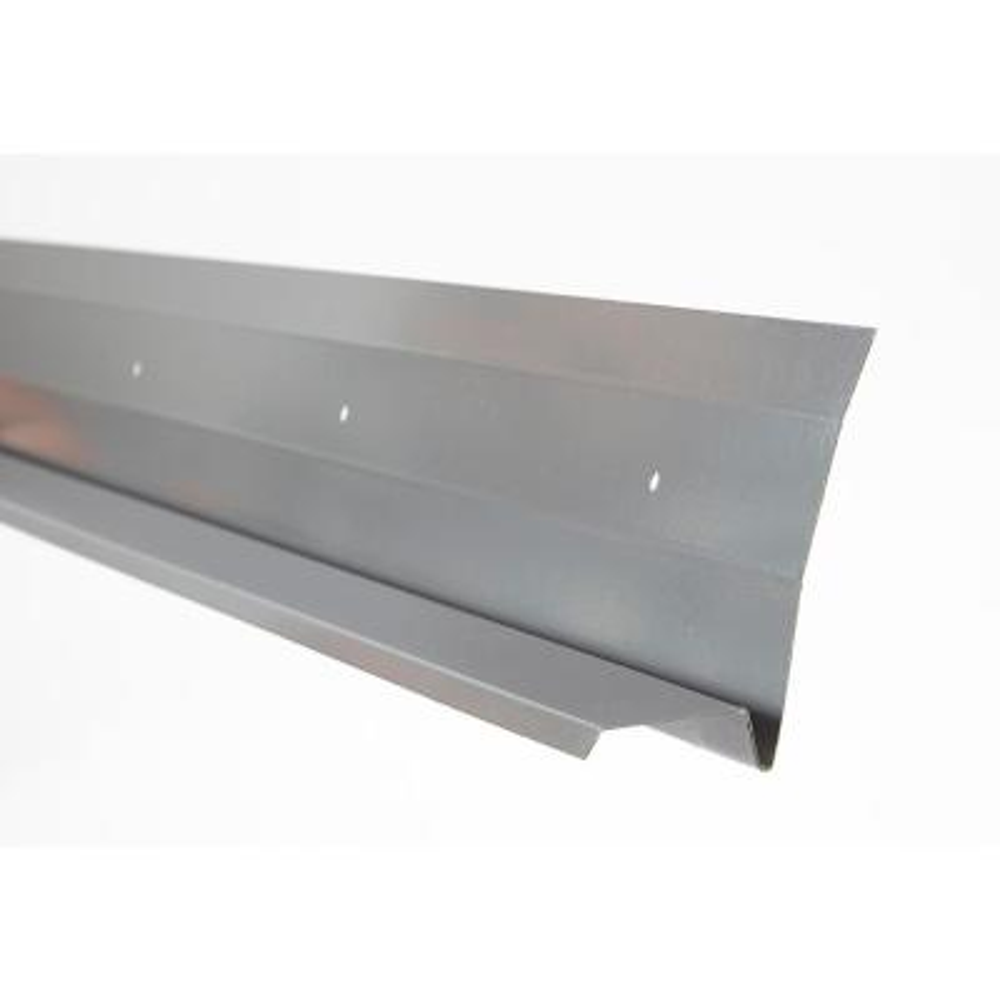 ClipStone Grey Primed 60 in. x 0.012 in. Stone Veneer Galvanized Starter Strip with Weep