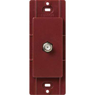 Satin Colors Coaxial Cable Jack - Merlot