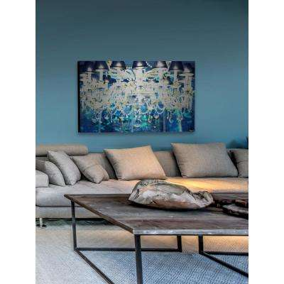 """40 in. H x 60 in. W """"Royal Blue"""" by Marmont Hill Printed Brushed Aluminum Wall Art"""