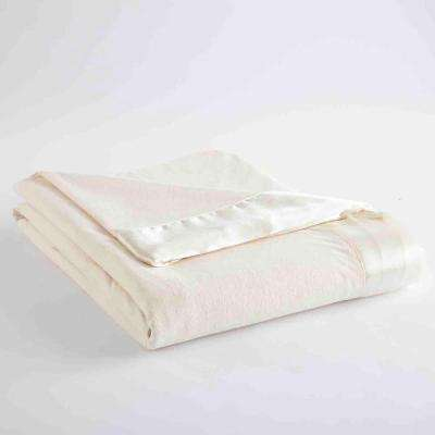 Twin Ivory Year Round Polyester Sheet Blanket