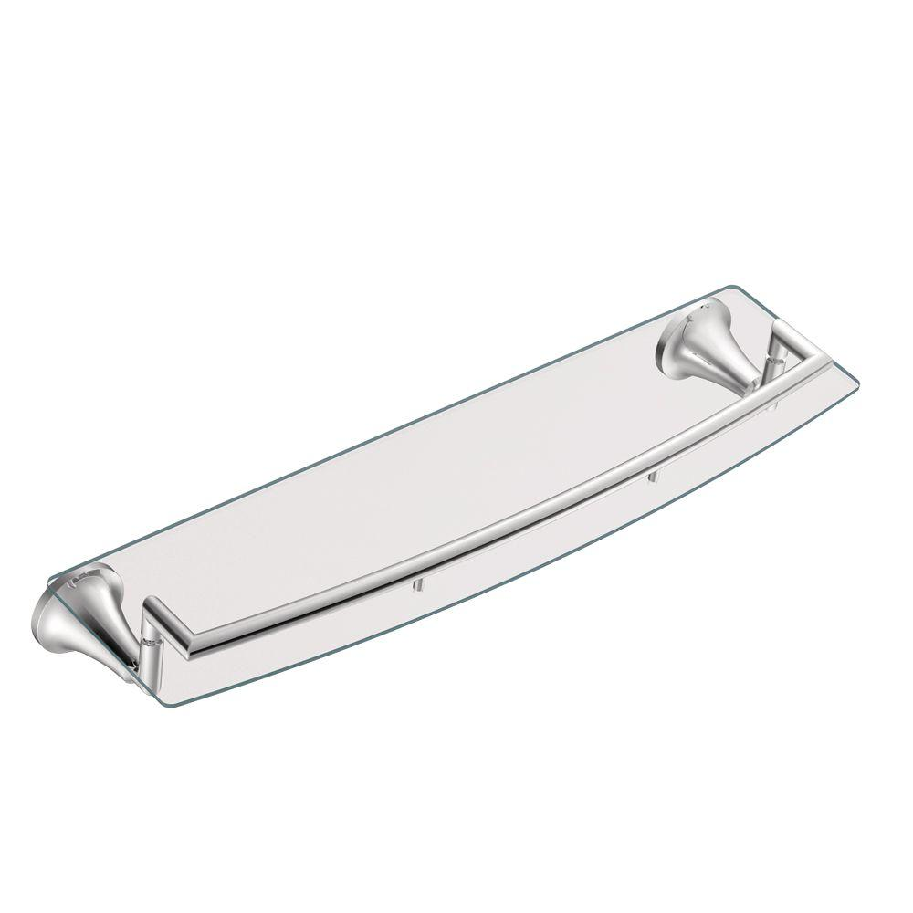 MOEN Icon 5-29/50 in. L x 3-41/100 in. H x 20-1/4 in. W Wall-Mount ...