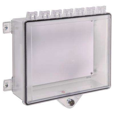 Type 4x Protective Cabinet with Back Plate and Key Lock - Clear