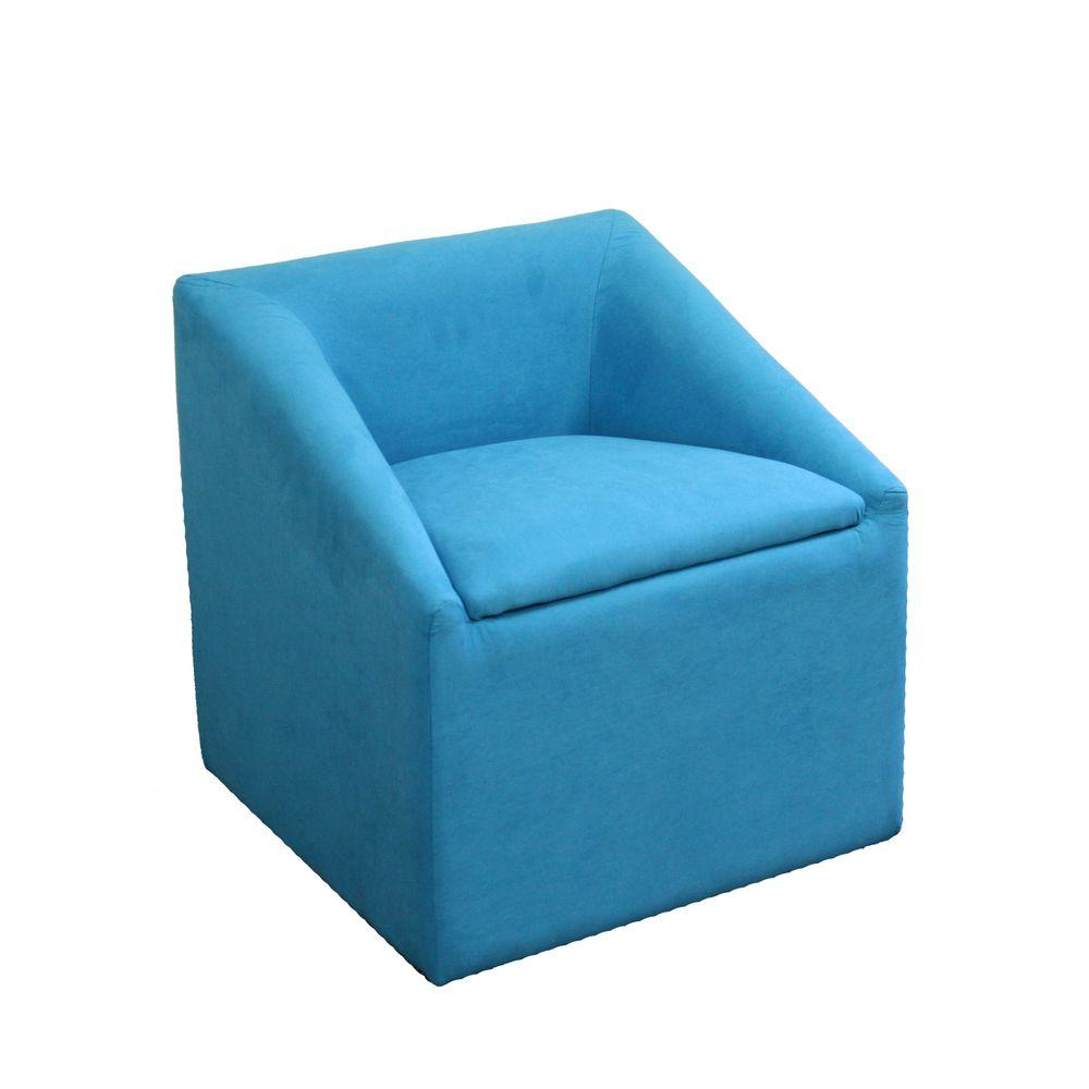 ORE International Sky Blue Polyurethane Arm Chair