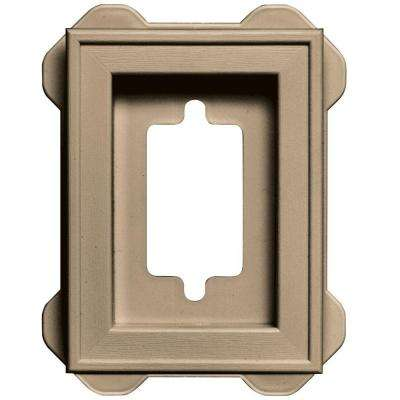 4.5 in. x 6.3125 in. #069 Tan Recessed Mini Mounting Block